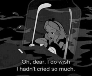 alice in wonderland, cry, and alice image