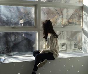 girl, style, and window image