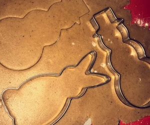 baking, holidays, and snowman image