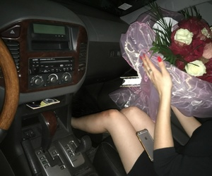 black, bouquet, and boys image