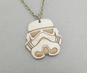 chain necklace, etsy, and star wars image