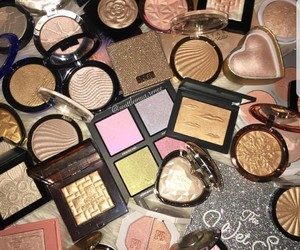 cosmetics, highlighter, and beauty image