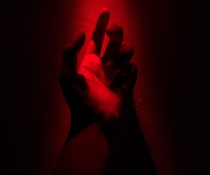 hands, light, and red image