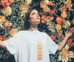 halsey, flowers, and orange image