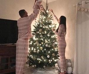 christmas, couple, and family image