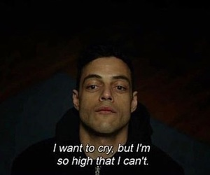 mr robot, cry, and high image