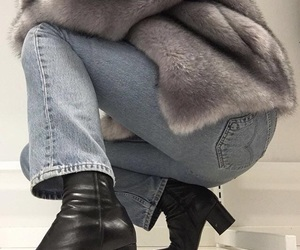 boots, fashion, and faux fur image