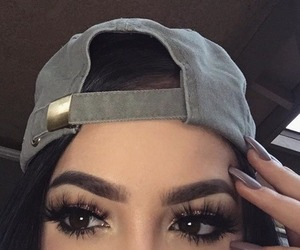 makeup, caked, and nails done image