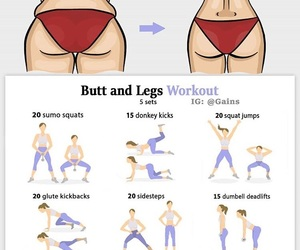 body, butt, and exercise image