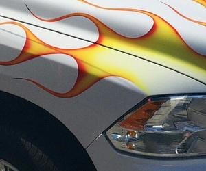 car, travis scott, and fire image