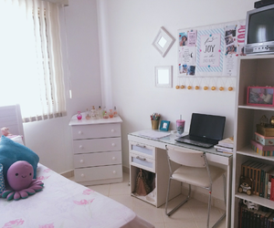 bedroom, decoration, and pink image