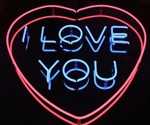 neon, love, and light image