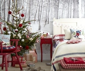 christmas, bedroom, and winter image