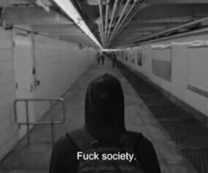 alone, black, and society image
