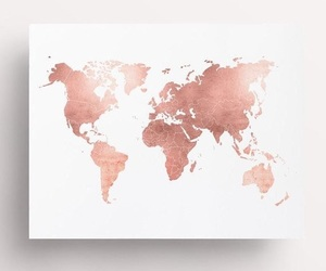 rose gold, world, and decor image