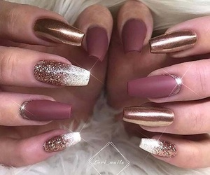 flawless, gold, and nails image