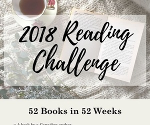 books, challenge, and 2018 image