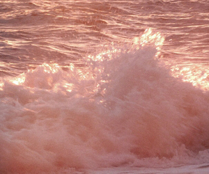 pink, aesthetic, and waves image