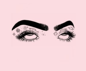 wallpaper, eyes, and pink image