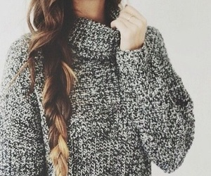 braids, sweater weather, and cozy image