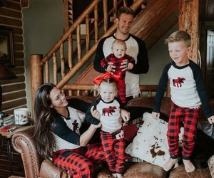 family time, christmas fun, and matching pj's image