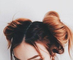 autumn, buns, and hair image