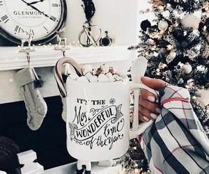 christmas, coffee, and cup image