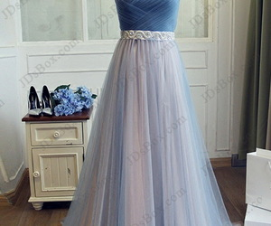 evening dress, a line, and sweetheart neckline image