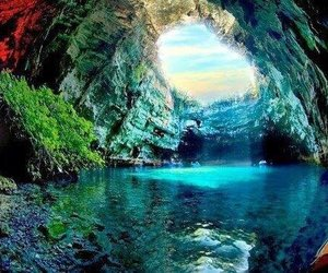 nature, cave, and Greece image