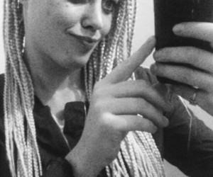 braids, new haircut, and haha image