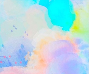 wallpaper, colors, and watercolor image