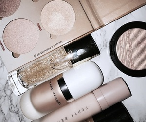 beauty, makeup, and gold image