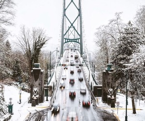 bridge, christmas, and cars image