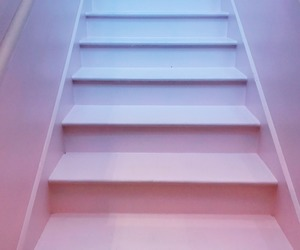 lilac, pink, and stairs image
