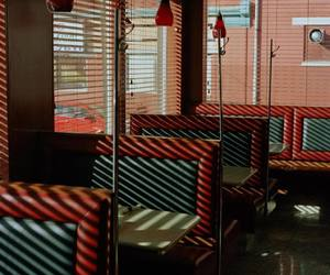 diagonal, diner, and lighting image