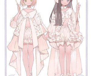 anime girl, sakura tomoyo, and anime fanart image