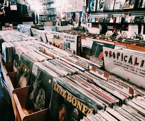 aesthetic, music, and record store image