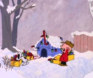 charlie brown, christmas, and lights image