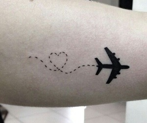 tattoo, travel, and love image