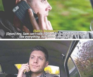 dean, funny, and Sam image