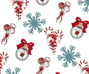background, snowflakes, and sweets image