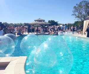 birthday, peoples, and pool party image