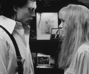 johnny depp, black and white, and edward image