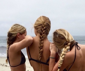 beautiful, best friends, and bikini image