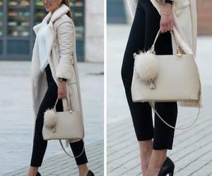 bag, beige, and pumps image