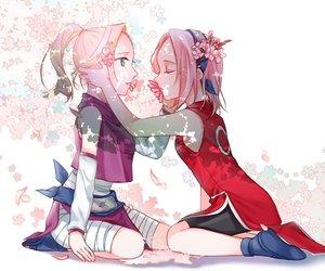 ino, sakura, and naruto image