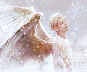 SHINee, Jonghyun, and angel image