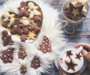 cappuccino, hot chocolate, and christmas image