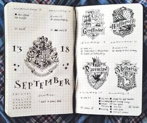 black and white, gryffindor, and harry potter image