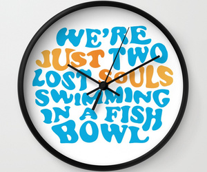 clock, typography, and pinkfloyd image